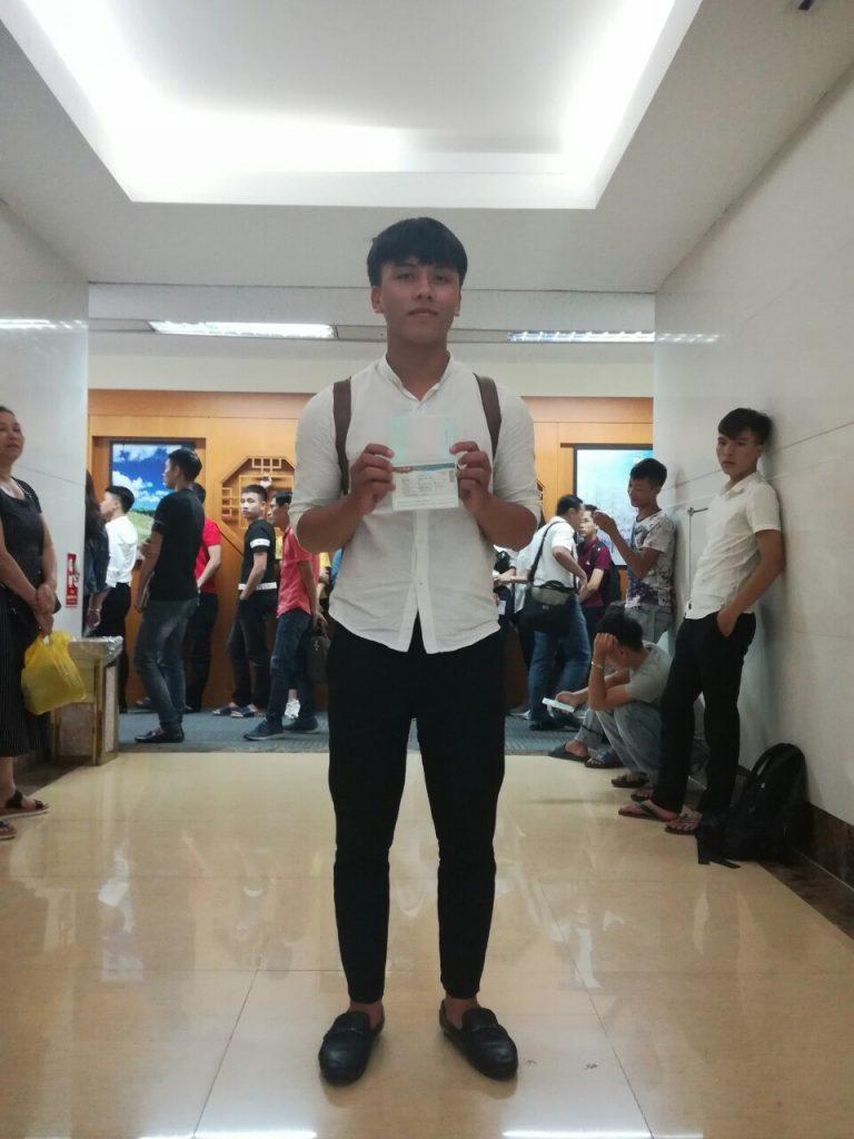 Bạn Minh Huy với tấm Visa Du học Hàn Quốc trường Đại học Incheon