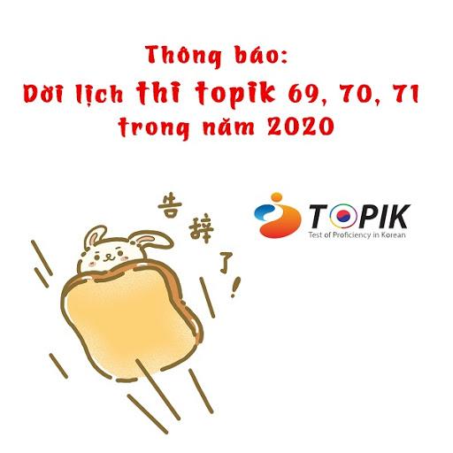 CẬP NHẬT MỚI LỊCH THI TOPIK TIẾNG HÀN NĂM 2020